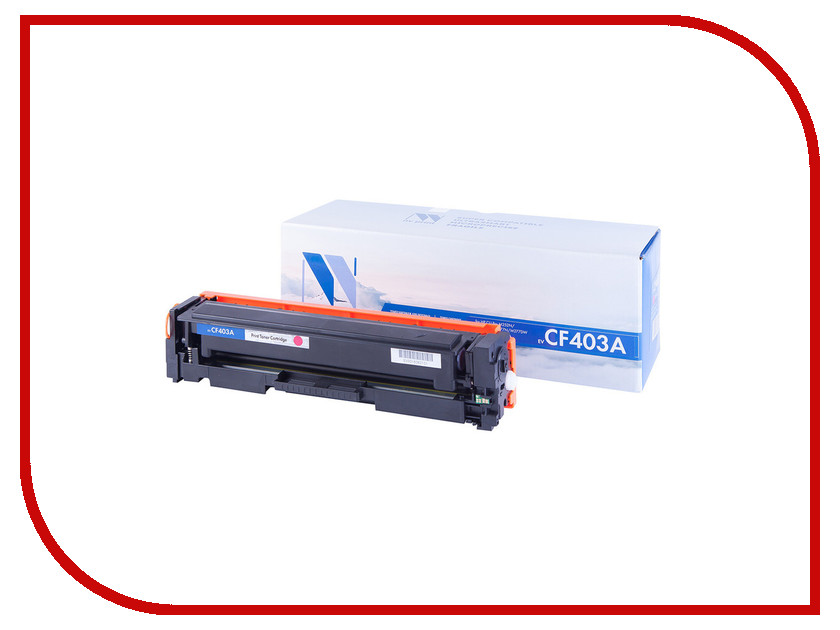 Картридж NV Print CF403A Magenta для HP LaserJet Color Pro M252dw/M252n/M274n/M277dw/M277n 1400к toner reset chip for hp colour laserjet pro m252dw m252n mfp m277dw m277n printer cartridge 201a cf400a cf401a cf402a cf403a