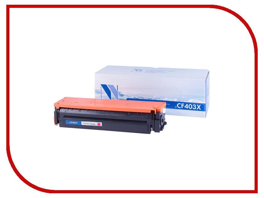 Картридж NV Print CF403X Magenta для HP LaserJet Color Pro M252dw/M252n/M274n/M277dw/M277n 2300k toner reset chip for hp colour laserjet pro m252dw m252n mfp m277dw m277n printer cartridge 201a cf400a cf401a cf402a cf403a