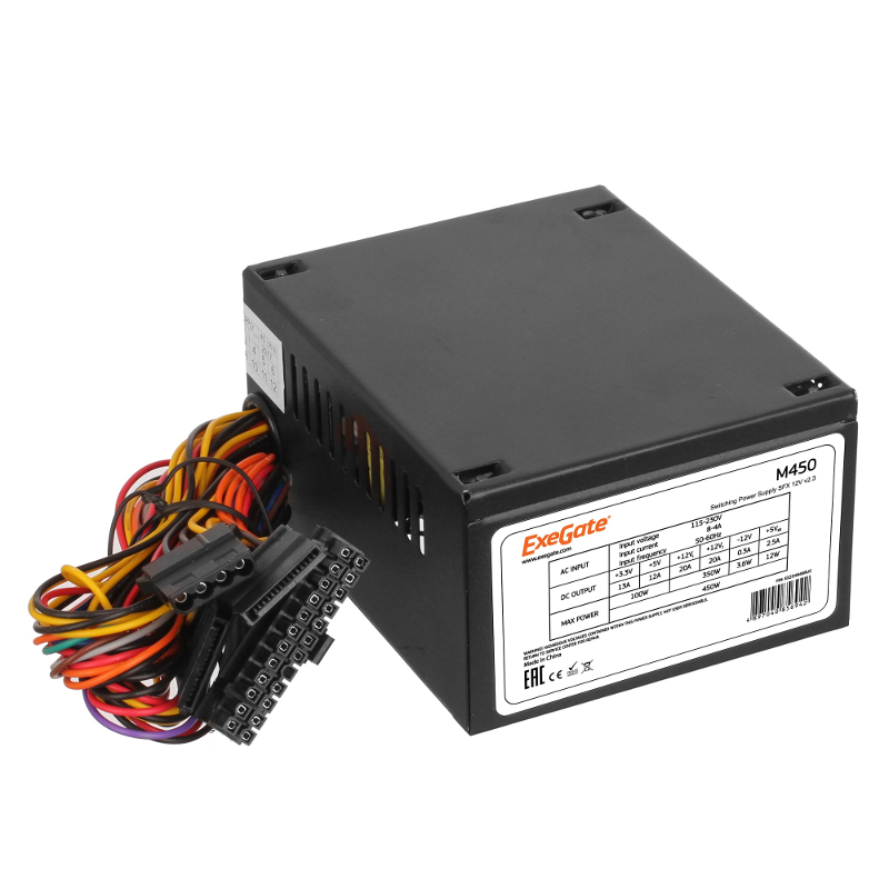 Блок питания ExeGate M450 450W Black 234946 цена