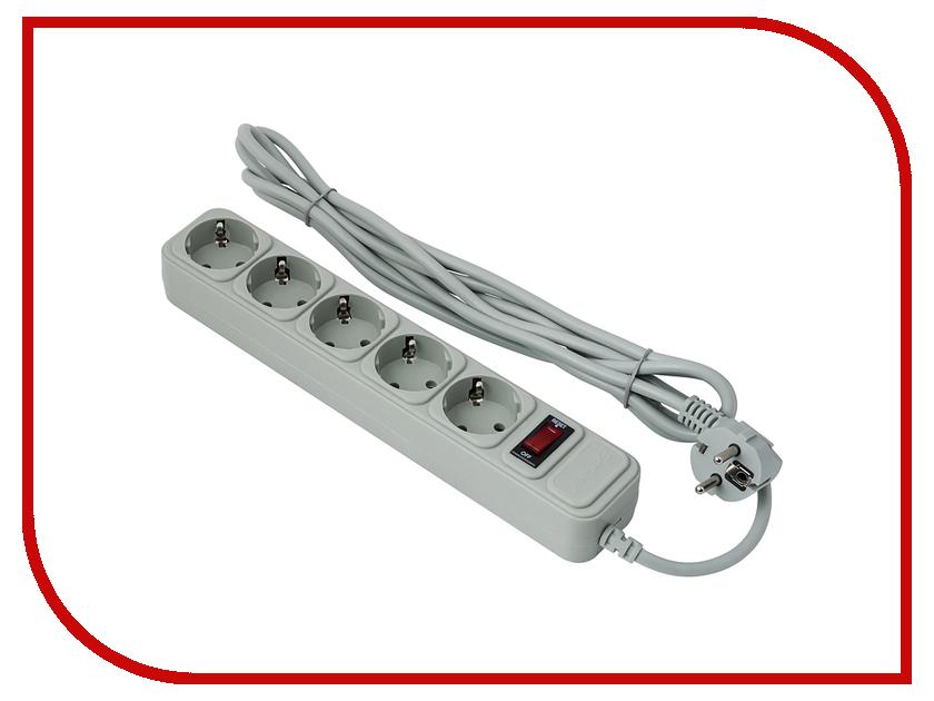 Сетевой фильтр ExeGate 5 Sockets 1.8m Grey SP-5-1.8G 221173<br>