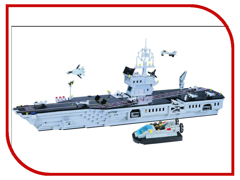 Игрушка Конструктор Enlighten Brick Полиция 113 Авианосец Г13596<br>