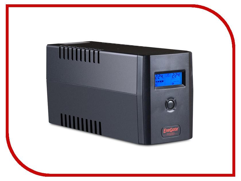 Источник бесперебойного питания ExeGate Power Smart ULB-400 LCD 400VA Black 212512