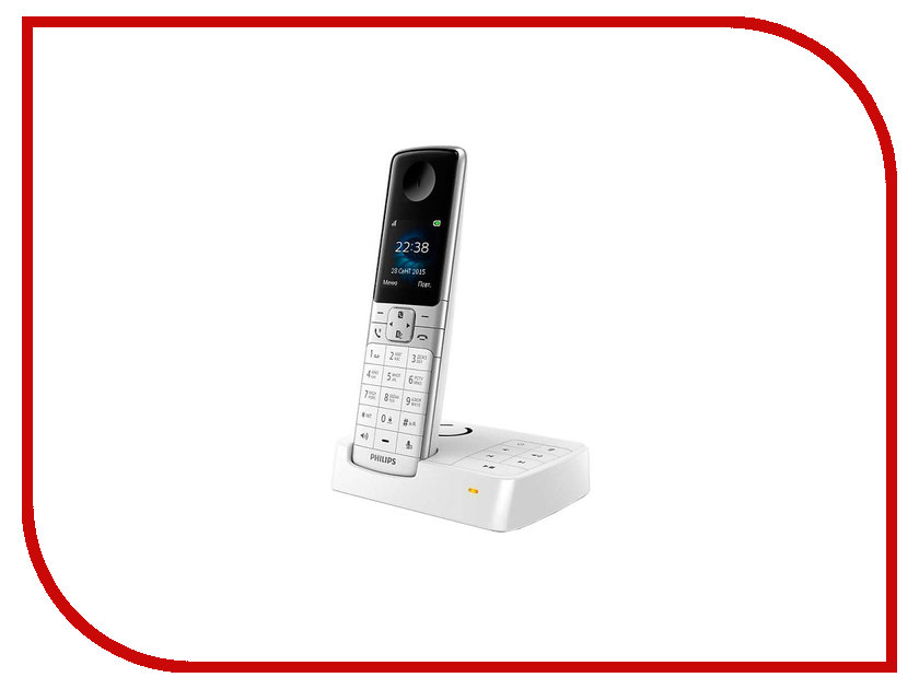 Радиотелефон Philips D 6351 White<br>