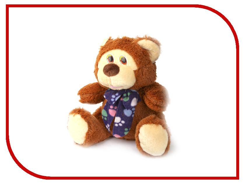 Игрушка антистресс Флиппер Медведь с бантом Brown Ф116к
