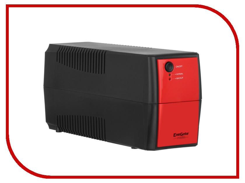 Источник бесперебойного питания ExeGate Power Back BNB-600 600VA Black-Red 254853 источник бесперебойного питания irbis personal 600va isb600e isb600e