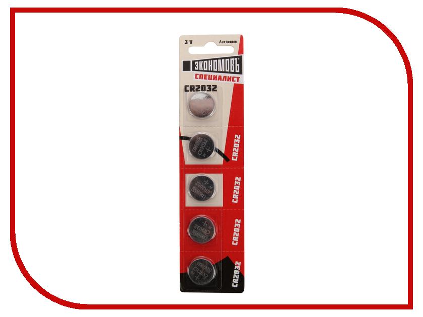 Батарейка CR2032 - ЭкономовЪ BP-5 EcoCR2032_BP5 батарейка космос koclr034bl lr lr03 bp 4 цена за блистер 4шт