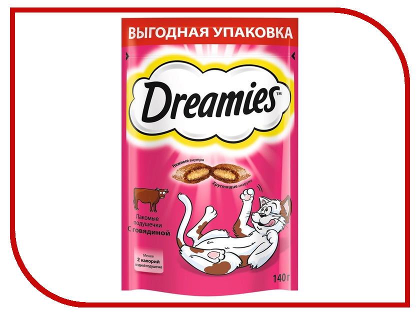 Лакомство Dreamies Говядина 140g для кошек 10150254<br>