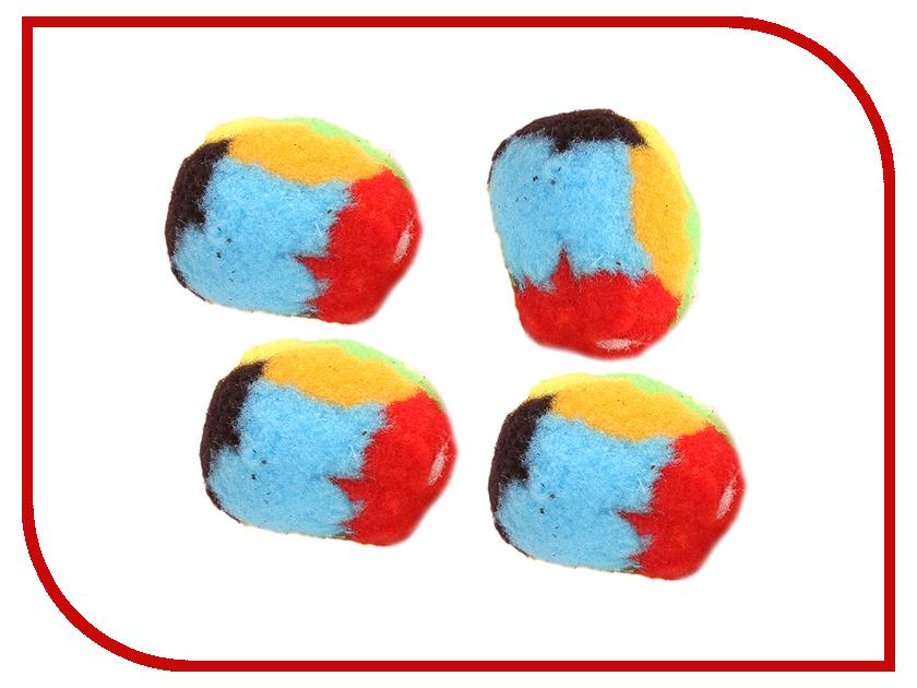 Игрушка Beeztees Мяч-помпон 425426 4шт