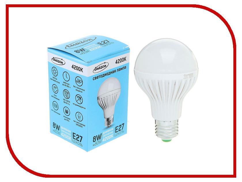 Лампочка Luazon E27 8W 4200К SMD2835 640Lm 160-240V 1489113