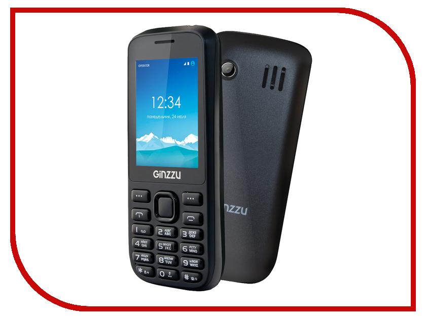 Сотовый телефон Ginzzu M201 Black мобильный телефон ginzzu m201 black 2 4 tft 240x320 2sim 1 3mp fm bt 1200mah