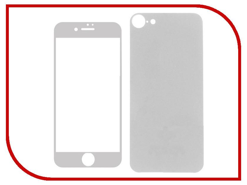 Аксессуар Защитное стекло Krutoff Front &amp; Back для APPLE iPhone 7 Shiny Silver 21761<br>