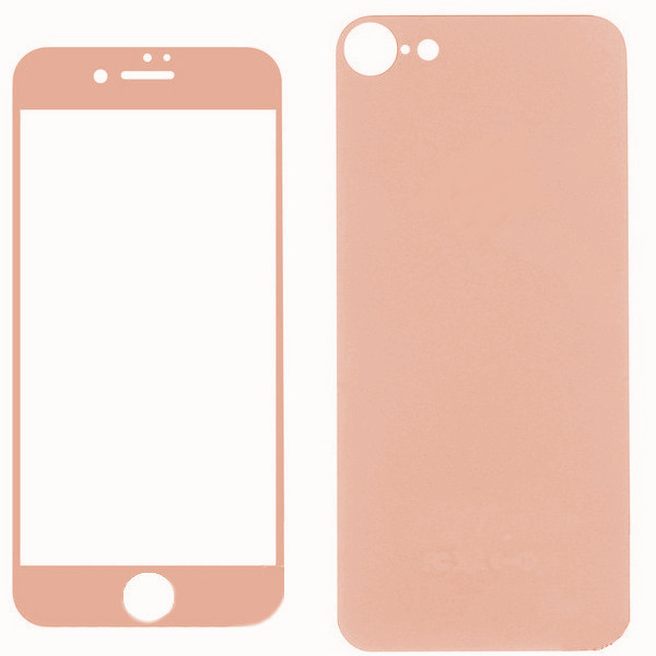 Защитное стекло Krutoff Front & Back для APPLE iPhone 7 Shiny Rose Gold 21768