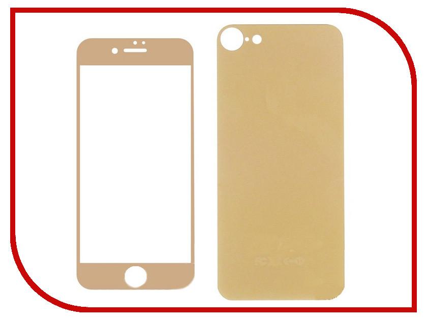 Аксессуар Защитное стекло Krutoff Front &amp; Back для APPLE iPhone 7 Shiny Gold 21770<br>