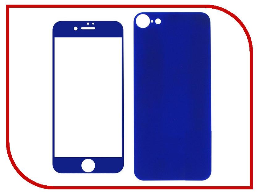 Аксессуар Защитное стекло Krutoff Front &amp; Back для APPLE iPhone 7 Shiny Blue 21769<br>