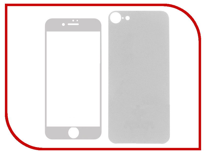 Аксессуар Защитное стекло Krutoff Front & Back для APPLE iPhone 6/6S Silver Matte 21647 аксессуар чехол krutoff solicone для apple iphone 6 6s 11733