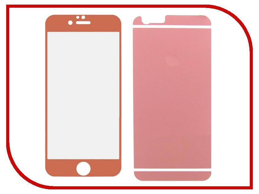 Аксессуар Защитное стекло Krutoff Front & Back для APPLE iPhone 6/6S Rose Gold Matte 21649 аксессуар чехол krutoff solicone для apple iphone 6 6s 11733