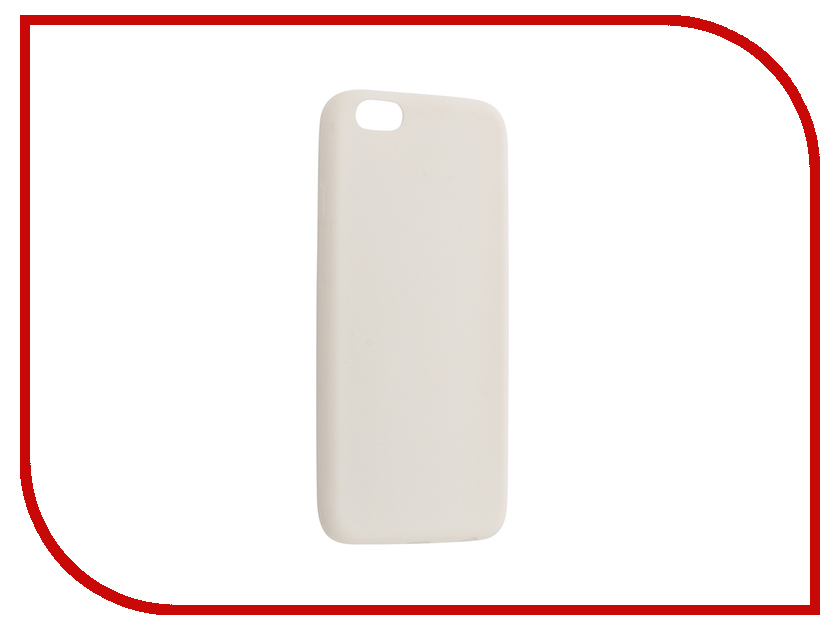Фото - Аксессуар Чехол Krutoff Silicone для APPLE iPhone 6/6S White 10760 аксессуар krutoff usb lightning для iphone 5 6 1m white 14265