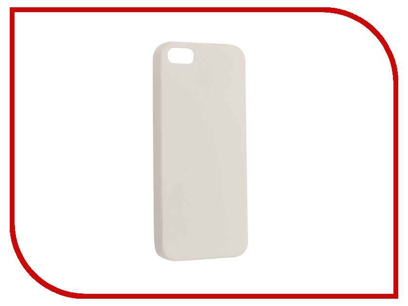 Аксессуар Чехол для APPLE iPhone 5 / 5S / SE Krutoff Silicone White 10759 аксессуар solomon iphone 5 5s se 22 5cm white