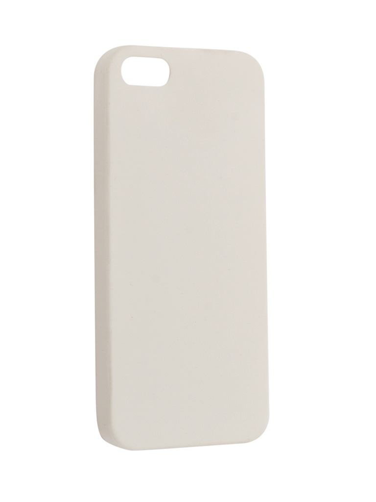 Чехол Krutoff для APPLE iPhone 5 / 5S / SE Silicone White 10759 цена и фото