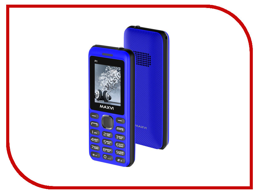 Сотовый телефон Maxvi P1 Blue-Black сотовый телефон maxvi c20 blue