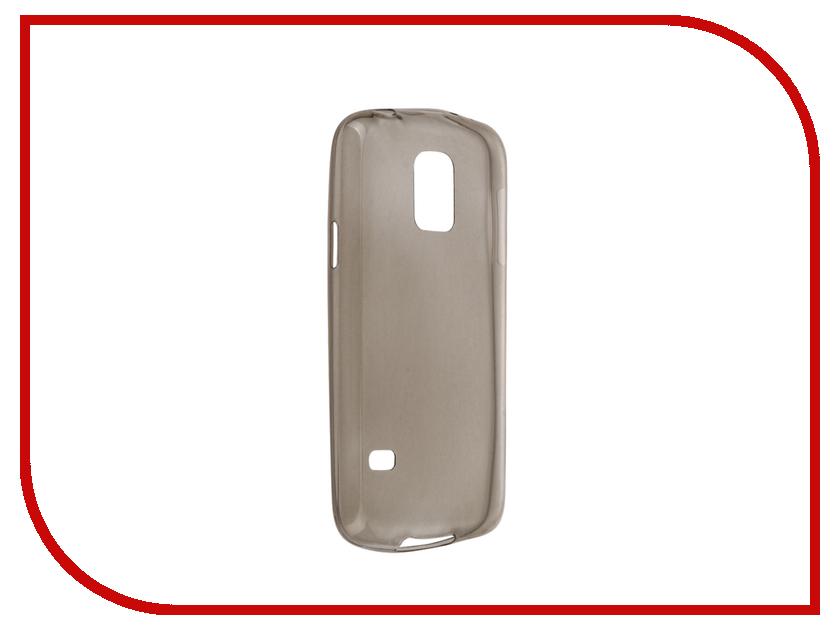 Аксессуар Чехол Samsung Galaxy S5 mini SM-G800 Krutoff Silicone Transparent-Black 11506<br>