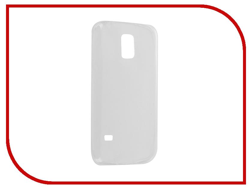 Аксессуар Чехол Samsung Galaxy S5 mini SM-G800 Krutoff Silicone Transparent 11505<br>