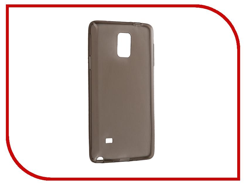Аксессуар Чехол Samsung Galaxy Note 4 SM-N910C Krutoff Silicone Transparent-Black 11490<br>