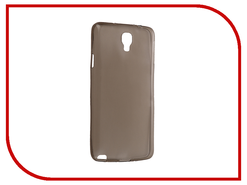 Аксессуар Чехол Samsung Galaxy Note 3 Neo SM-N7505 Krutoff Silicone Transparent-Black 11488