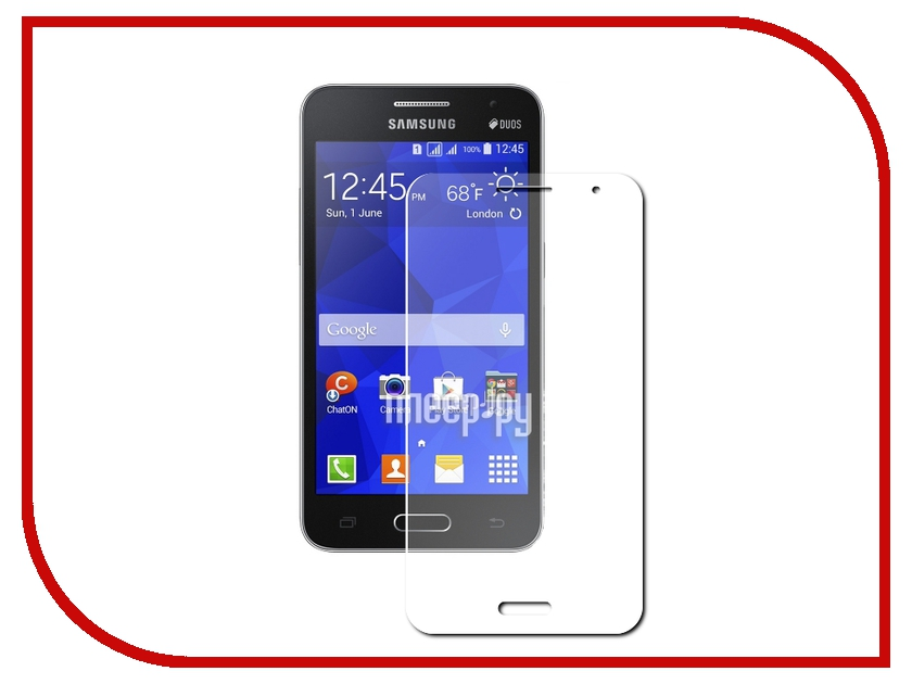 Аксессуар Защитное стекло Samsung Galaxy Core 2 SM-G355 Krutoff 0.26mm 21941 аксессуар защитное стекло krutoff front