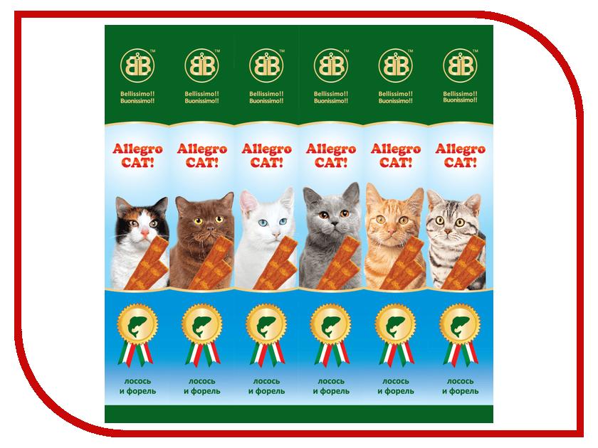 лакомство b&b allegro cat колбаски курица печень для кошек 6шт 36450 Лакомство B&B Allegro Cat Колбаски Лосось Форель для кошек (6шт) 36451