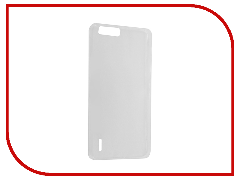 Аксессуар Чехол Huawei Honor 6 Plus Krutoff Silicone Transparent 11555 аксессуар чехол krutoff для iphone 6 plus transparent 10676