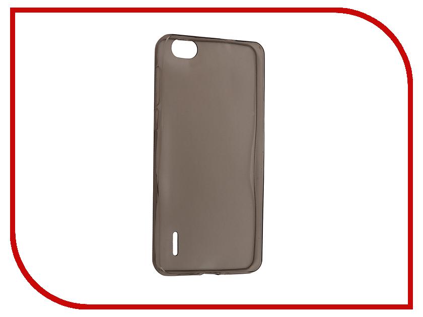 Аксессуар Чехол Huawei Honor 6 Krutoff Silicone Transparent-Black 11558 аксессуар чехол аккумулятор krutoff x4 3800 mah для iphone 6 black 48186