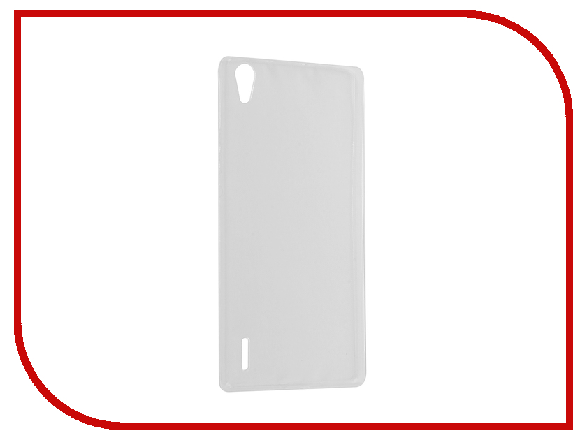 Аксессуар Чехол Huawei Ascend P7 Krutoff Silicone Transparent 11563<br>