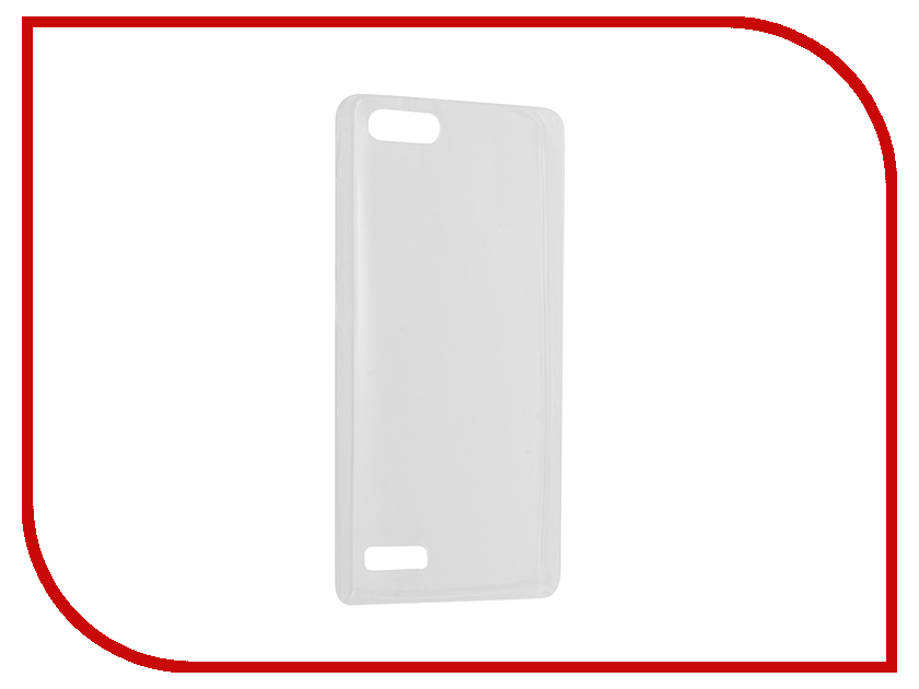 Аксессуар Чехол Huawei Ascend G6 Krutoff Silicone Transparent 11561<br>