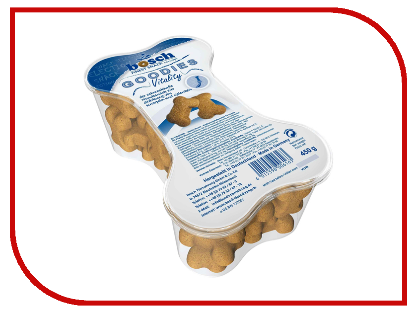 Лакомство Bosch Tiernahrung GmbH&Co Goodies Vitality 450g для собак 06163
