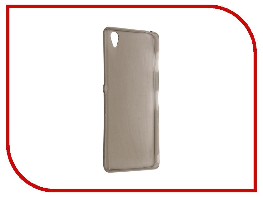 Аксессуар Чехол Sony Xperia Z3 Krutoff Silicone Transparent-Black 11554<br>