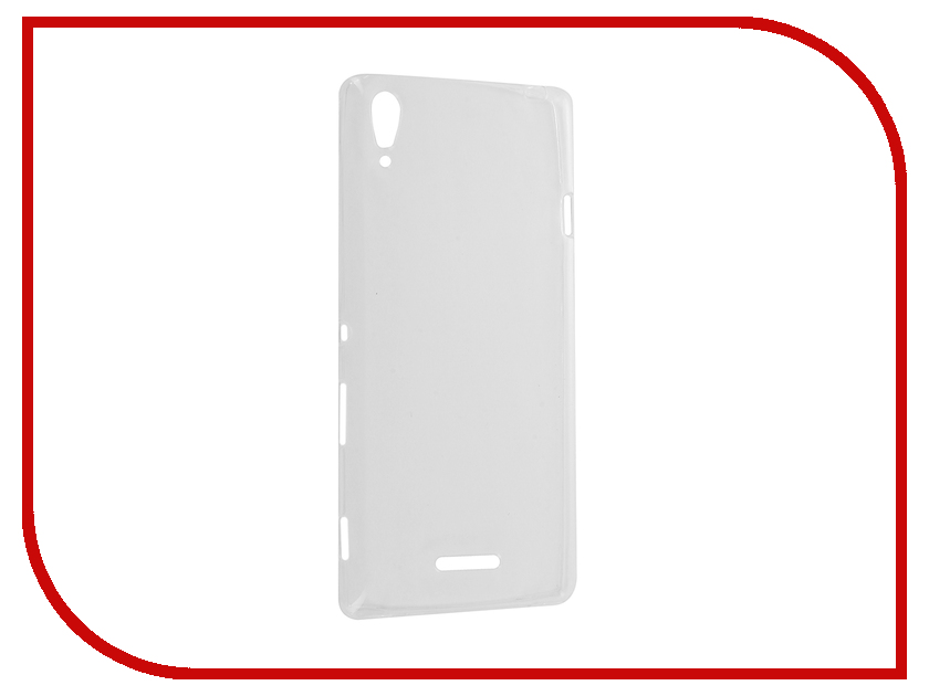 Аксессуар Чехол Sony Xperia T3 Krutoff Silicone Transparent 11539<br>