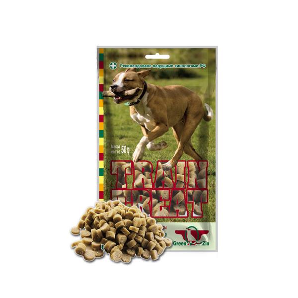 Корм Green Qzin Лакомство для собак Дрессура 2 мясо Индейка/Треска 50г 50032 от Pleer