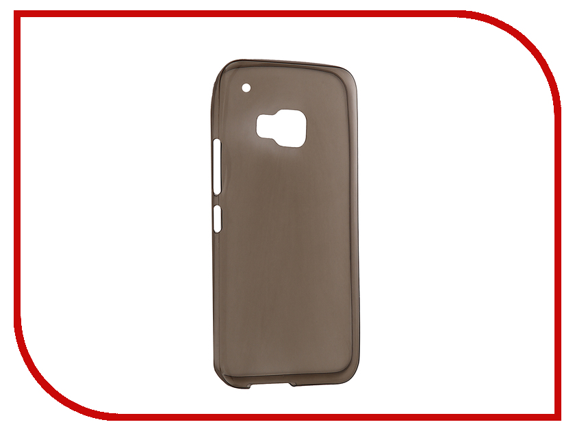 Аксессуар Чехол HTC One M9 Krutoff Silicone Transparent-Black 10658<br>