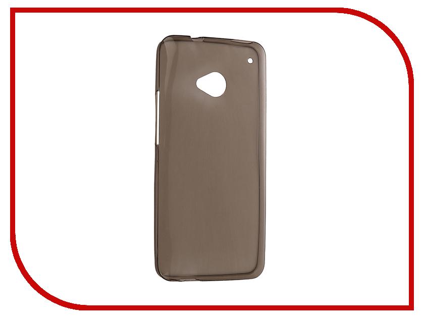 Аксессуар Чехол HTC One M7 Krutoff Silicone Transparent-Black 10654 аксессуар чехол xiaomi redmi 1s krutoff silicone transparent black 10289