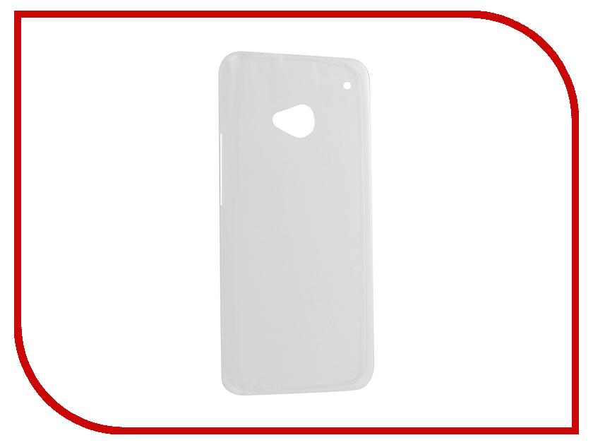 Аксессуар Чехол HTC One M7 Krutoff Silicone Transparent 10649<br>