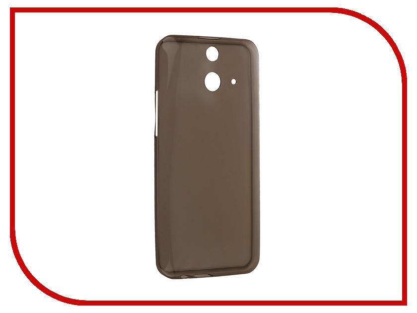 Аксессуар Чехол HTC One E8 Krutoff Silicone Transparent-Black 10648