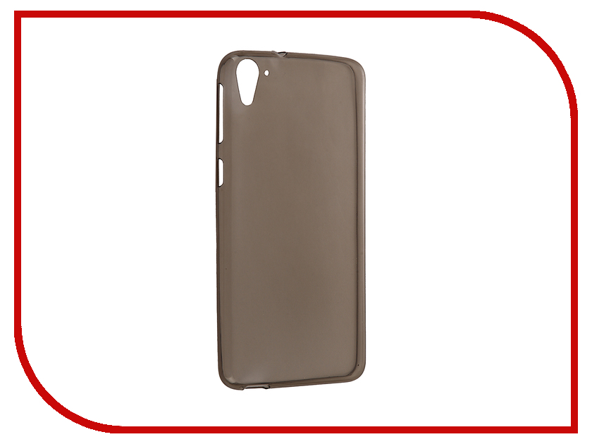 Аксессуар Чехол HTC Desire 826 Krutoff Silicone Transparent-Black 10667