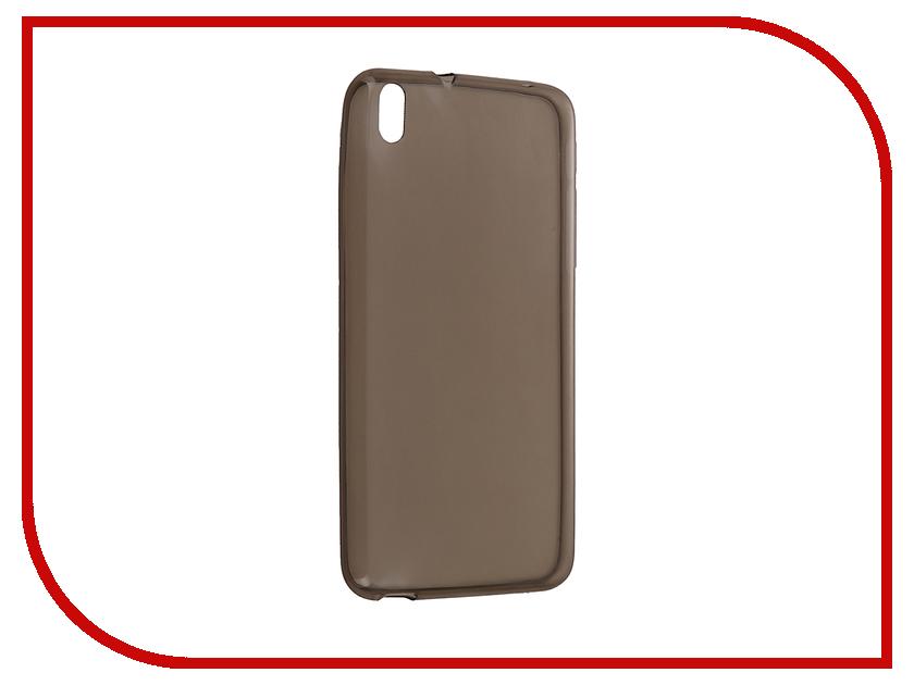 Аксессуар Чехол HTC Desire 816 Krutoff Silicone Transparent-Black 10698