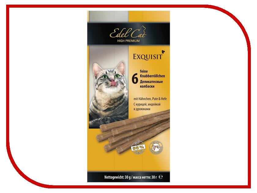 Лакомство Edel Cat Курица/Индейка/Дрожжи 71028 корм edel cat гусь печень 100g 8104
