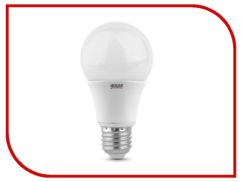 Лампочка Gauss Elementary LED A60 E27 15W 4100K 23225 gauss лампа gauss elementary led a60 15w e27 4100k 1 10 40