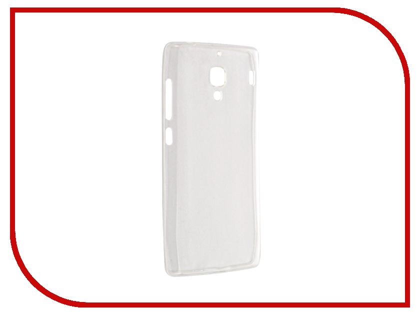 Аксессуар Чехол Xiaomi Redmi 1S Krutoff Silicone Transparent-Black 10289