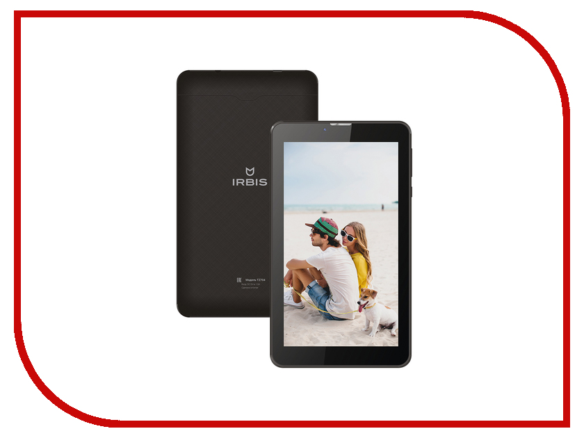 Планшет Irbis TZ704 Black (MTK 8312 CW 1.33 GHz/512Mb/8Gb/Wi-Fi/Cam/7.0/1024x600/Android 5.1)