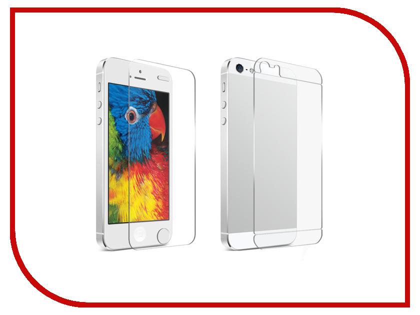 Аксессуар Защитная пленка Krutoff для APPLE iPhone 5 / 5S / SE Front & Back глянцевая 21680