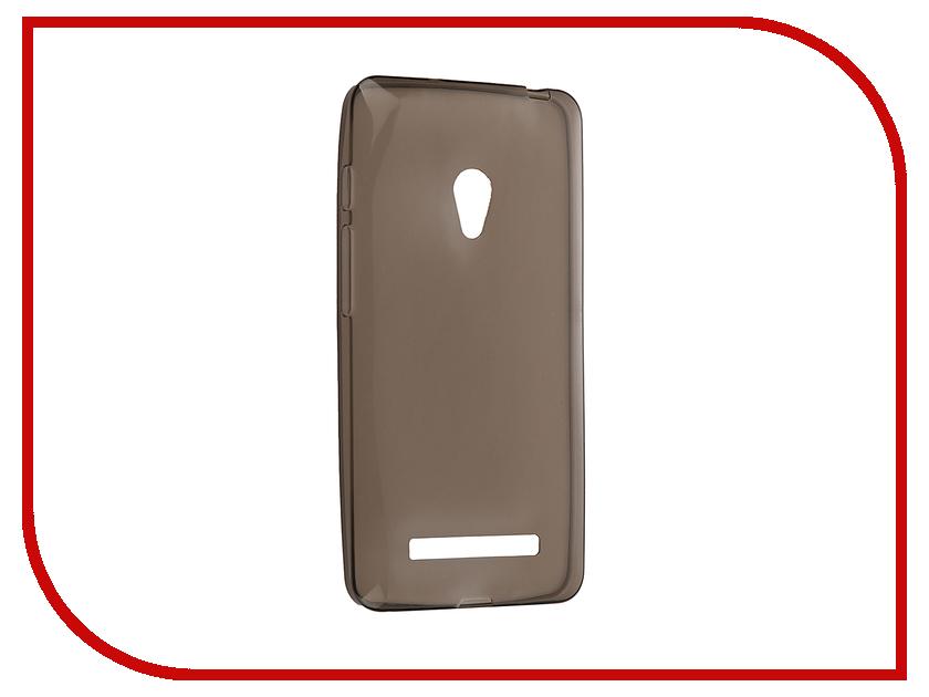 Аксессуар Чехол ASUS ZenFone 5 Krutoff Silicone Transparent-Black 10281